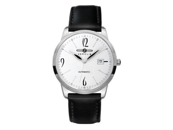 ツェッペリン ZEPPELIN フラットライン 自動巻き メンズ 腕時計 7350-1 ホワイト【送料無料】