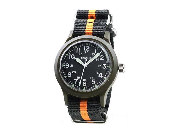 ベンラス BENRUS クオーツ メンズ 腕時計 時計 BR763-OLIVE-04:リコメン堂生活館