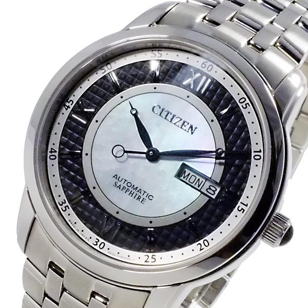 シチズン CITIZEN メカニカル 日本製 自動巻 メンズ 腕時計 時計 NH8300-57E ブラック