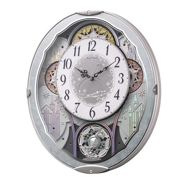 リズム RHYTHM 掛け時計 スモールワールドビスト 電波からくり時計 4MN537RH04