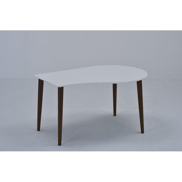 ミキモク ダイニングテーブル サライ ホワイト ブラウン 130cm DT-133398PUW L-0398TBR 【2梱包】(代引不可)【送料無料】