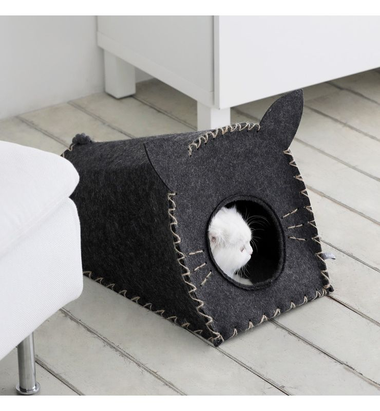 roomnhome キャットインキャットハウス 45×40×39cm トライキャットハウス ぺットハウス 猫ハウス(代引不可)