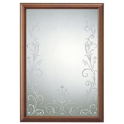 塩川光明堂 国産 ウォールミラー SAN 012 DB ダークブラウン ミラー 鏡(代引不可)【送料無料】【S1】