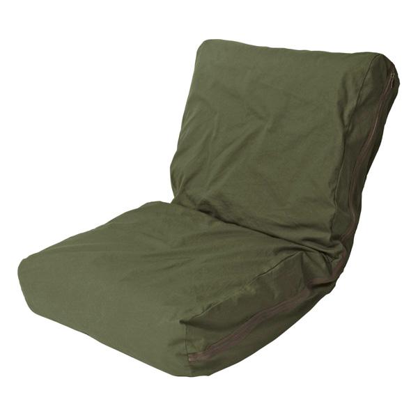 HANPU ざっくり洗いざらしの帆布ソファ 座椅子 42段階リクライニング フロアチェア 座椅子(代引不可)【送料無料】