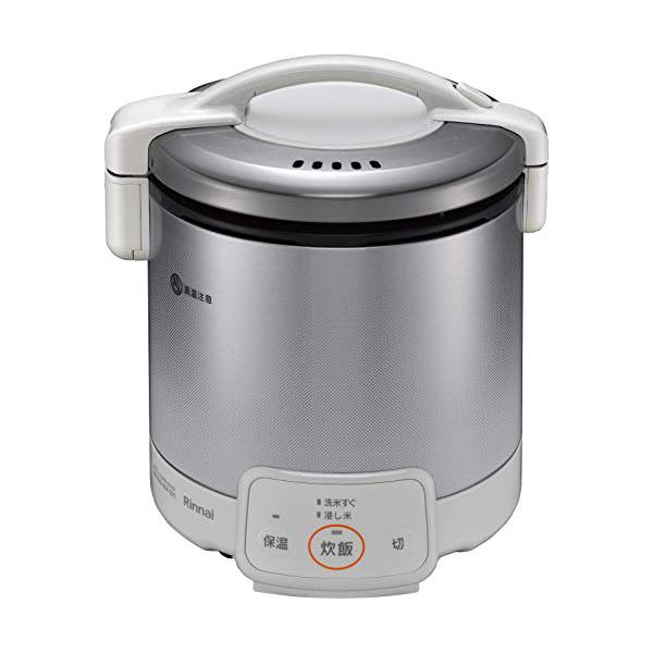 リンナイ 電子ジャー付 ガス炊飯器 1~5合 こがまる RR-050VQ(W)-LPG プロパンガス(LPガス) グレイッシュホワイト【送料無料】