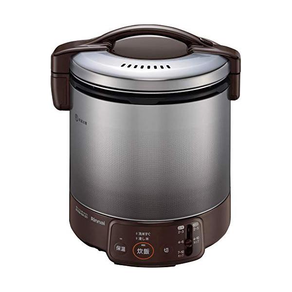 リンナイ 電子ジャー付 ガス炊飯器 2~10合(1升) こがまる RR-100VQ(DB)-13A 都市ガス ダークブラウン【送料無料】