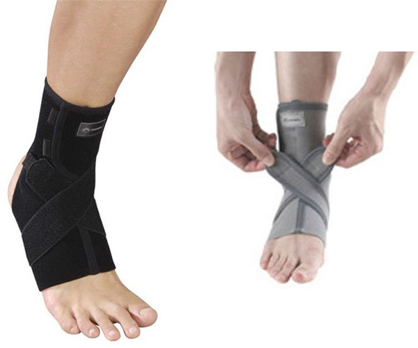 サポーターのある健康生活へ。足首その他のサポートに。 【noble】ノーブル アンクル レスキュークロスサポート [男女兼用・左右兼用・1枚入り] (日本製) ブラック(Sサイズ)/12点入り(代引き不可)