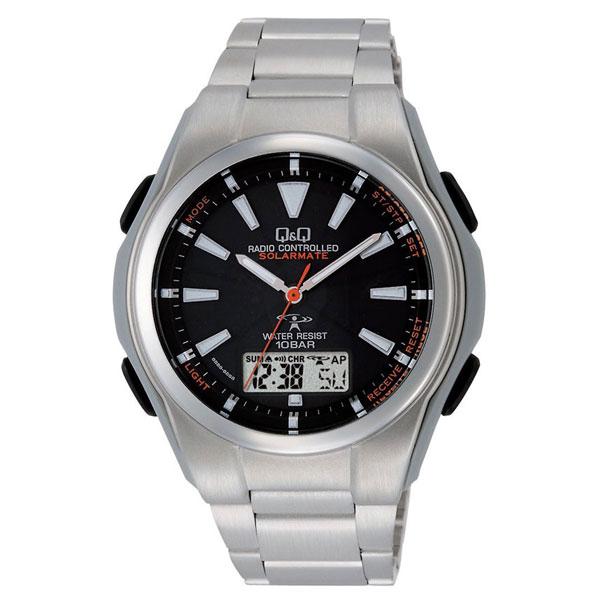 【CITIZEN】シチズン Q&Q 電波ソーラー メンズ腕時計MD02-202 SOLARMATE (ソーラーメイト) /1点入り(代引き不可)