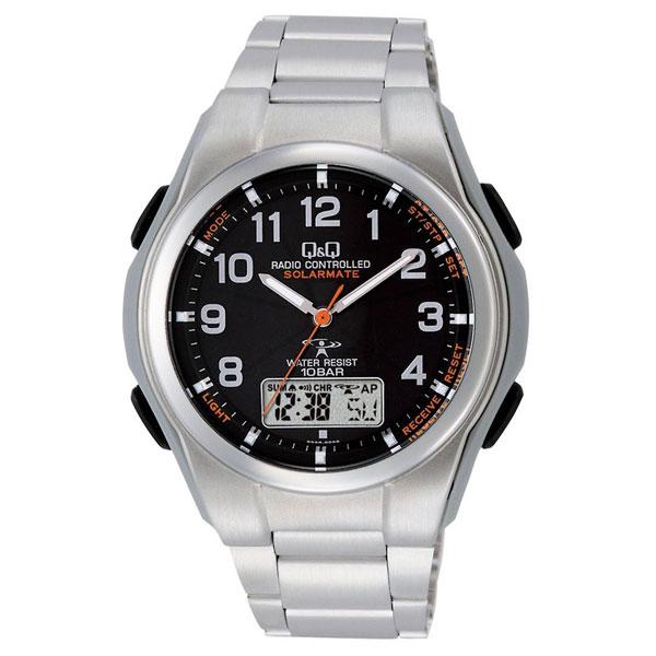 【CITIZEN】シチズン Q&Q 電波ソーラー メンズ腕時計MD02-205 SOLARMATE (ソーラーメイト) /10点入り(代引き不可)