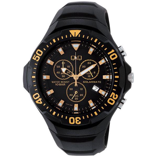 【CITIZEN】シチズン Q&Q ソーラー電源 メンズ腕時計H034-003 SOLARMATE (ソーラーメイト) /10点入り(代引き不可)