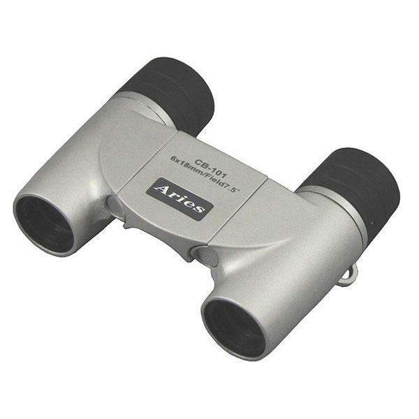 【MIZAR-TEC】ミザールテック 10倍21ミリ口径 ダハプリズム式 双眼鏡CB-101シルバー /5点入り(代引き不可)