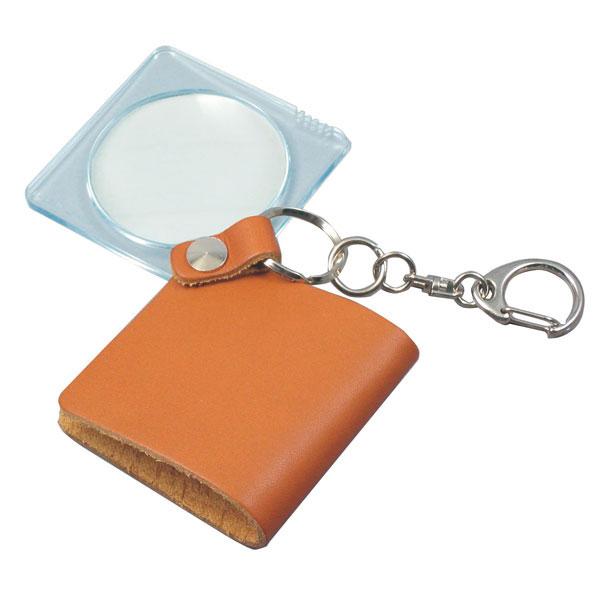 レンズをケースの中に折りたためる携帯用ポケットルーペです。 【MIZAR-TEC】ミザールテック ポケットルーペ 倍率3.5倍 レンズ径45mm 日本製 ブラウン RK-45 /20点入り(代引き不可)