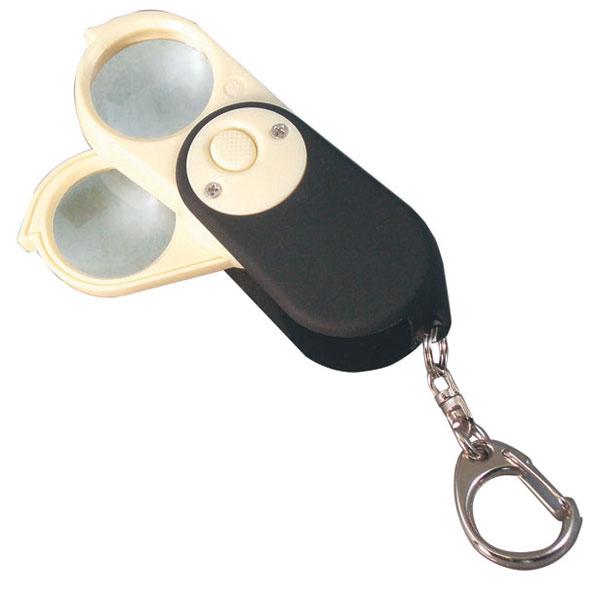旅行のお供に便利なライトルーペです。 【MIZAR-TEC 】ミザールテック 検査用ルーペ 倍率4倍・6倍 レンズ径23mm 日本製 RML-64P /50点入り(代引き不可)
