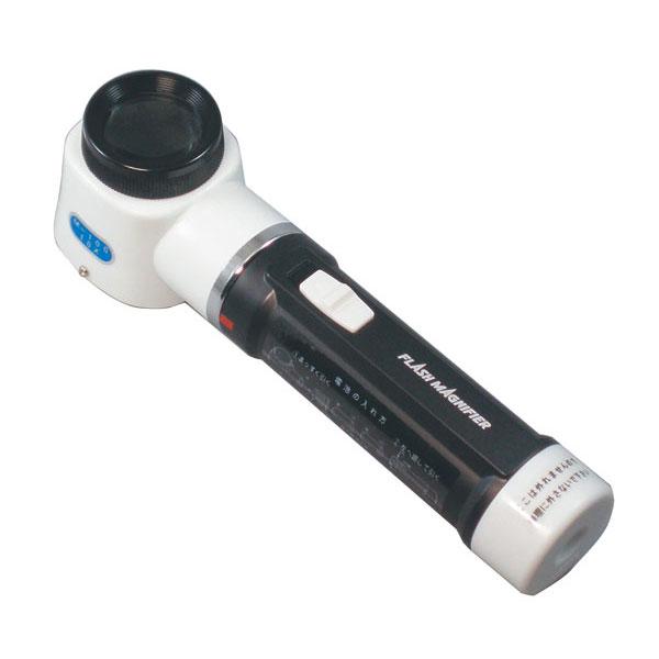 【MIZAR-TEC 】ミザールテック 手持ちルーペ 倍率10倍 レンズ径30mm ライト付 日本製 RF-100 /20点入り(代引き不可)【S1】