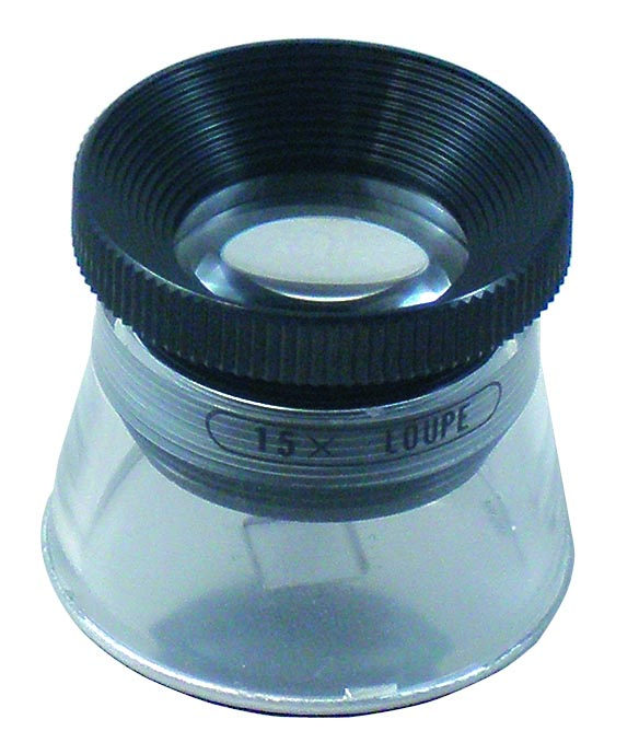 スケールルーペは目盛り付の精密ルーペです。 【MIZAR-TEC 】ミザールテック 高倍率ルーペ 倍率15倍 レンズ径21mm 0.1mm目盛り付き 日本製 RCS-15 /20点入り(代引き不可)