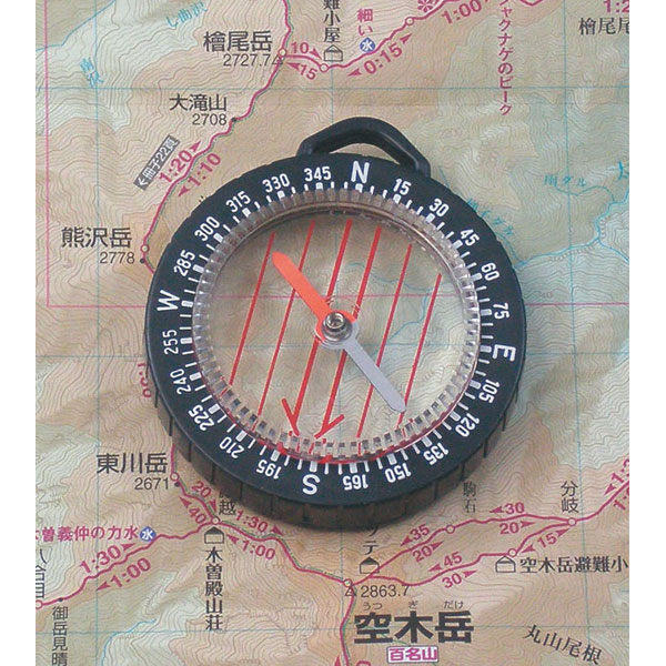 【MIZAR-TEC】ミザールテック オイル式地図用ポケットコンパス ルーペ付 ブラック 日本製 GS-33 /50点入り(代引き不可)【送料無料】