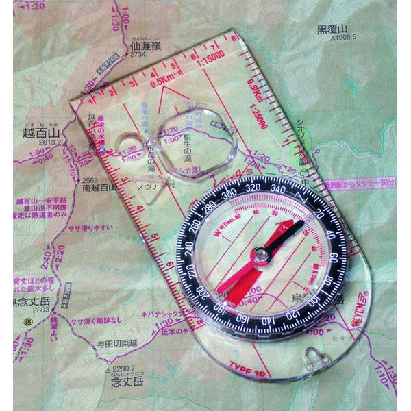 ミザールテック オイル式地図用コンパス スケール付 クリア 日本製 G-23 /10点入り(代引き不可)