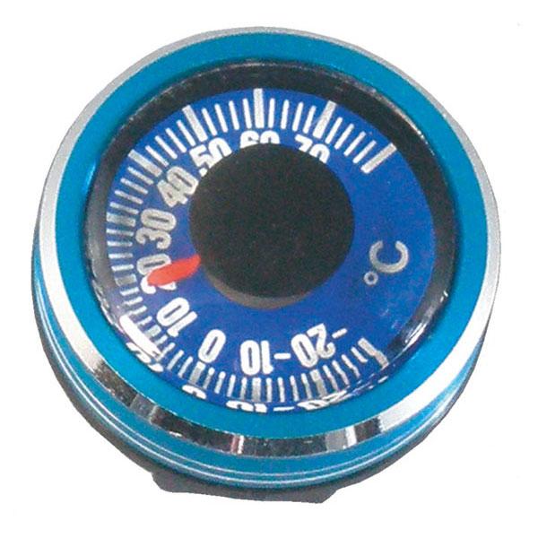 【MIZAR-TEC】ミザールテック リストサーモメーター 100m防水 日本製 NO810 ブルー/10点入り(代引き不可)
