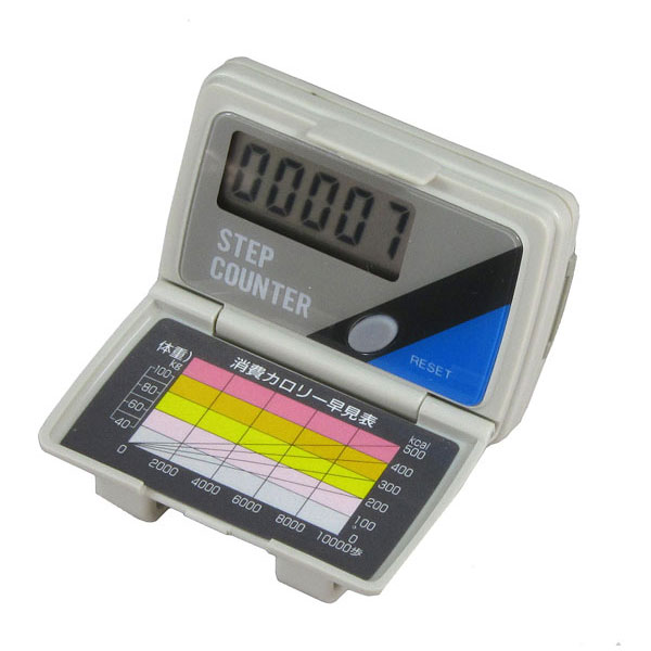 【MIZAR-TEC】ミザールテック デジタル歩数計 カロリー早見表付 ブラック NO3050 /20点入り(代引き不可)