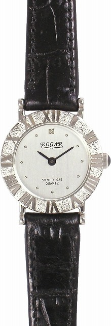 【ROGAR】ローガル レディース腕時計 RO-006LB 銀製品 日常生活用防水(日本製) /5点入り(代引き不可)