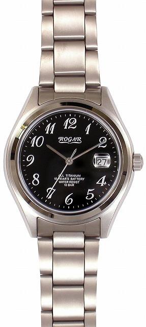 【ROGAR】ローガル メンズ腕時計 RO-047M-BS 10気圧防水(日本製) /5点入り(代引き不可)