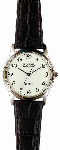 【ROGAR】ローガル メンズ腕時計 RO-055MB-S1 日常生活用防水(日本製) /10点入り(代引き不可)