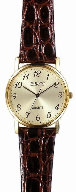 【ROGAR】ローガル メンズ腕時計 RO-060MA-05 日常生活用防水(日本製) /10点入り(代引き不可)