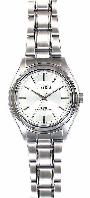 【LIBERTA】リベルタ メンズ腕時計 LI-032M-WH 10気圧防水(日本製) /5点入り(代引き不可)