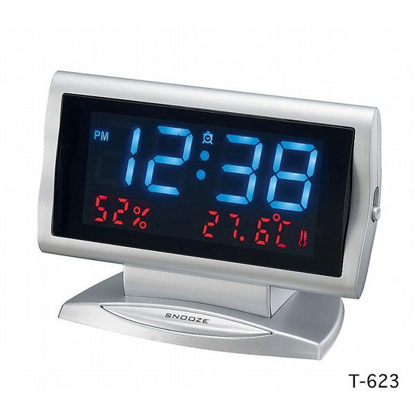 LEDデジタル目覚し時計 T-623 エアタイム /20点入り(代引き不可)