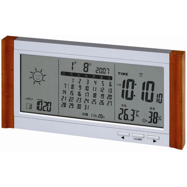 カレンダー電波時計(天気予報機能つき) TSB-376 カレンダー電波時計(天気予報機能つき) TSB-376/20点入り(代引き不可)【送料無料】