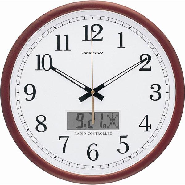電波掛時計 AD-403M 電波掛時計 AD-403M/10点入り(代引き不可)