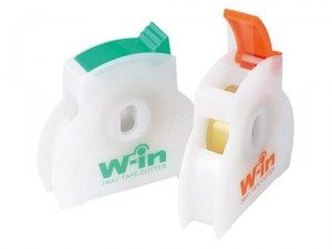 テープカッター ウィン・テープカッター(日本製) ウィン・テープカッター(アソ-ト)・グリーン/120点・オレンジ/120点(代引き不可)