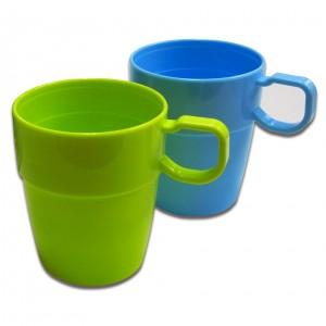 耐熱カップ メジャーリングカップ・2P(日本製) メジャーリングカップ・2P(2カラーセット)/80点入り(代引き不可)