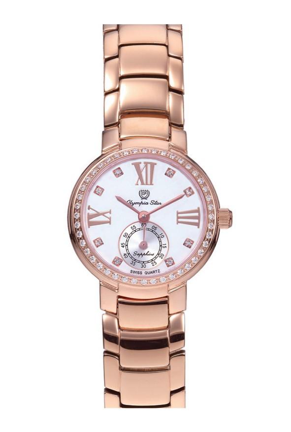 【OPYMPIA STAR】オリンピアスター レディース腕時計 OP-28012DLR-5 アナログ表示 スイス製ム−ブ 3気圧/1点入り(代引き不可)
