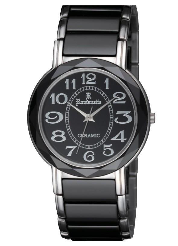 【ROMANETTE】ロマネッティ メンズ腕時計 RE-3526M-1 アナログ表示 K18リューズ セラミック 3気圧防水 /1点入り(代引き不可)