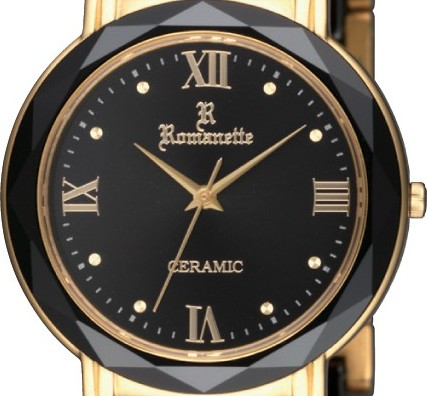 【ROMANETTE】ロマネッティ メンズ腕時計RE-3526M-4 アナログ表示 K18リューズ セラミック 3気圧防水 /10点入り(代引き不可)