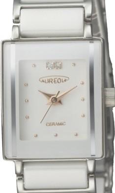 【AUREOLE】オレオール レディース腕時計 SW-495L-3 アナログ表示 天然ダイヤ2P セラミック 日常生活用防水 /5点入り(代引き不可)