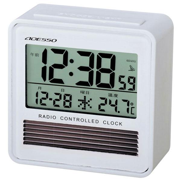 エコソーラー電波時計 C-8367 エコソーラー電波時計 C-8367W(ホワイト)/80点入り(代引き不可)【送料無料】