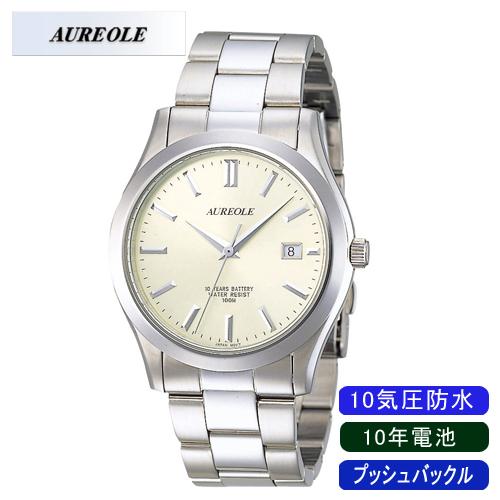 【AUREOLE】オレオール メンズ腕時計 SW-409M-3 10気圧防水 10年電池 /10点入り(代引き不可)