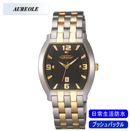 【AUREOLE】オレオール メンズ腕時計 SW-465M-1 アナログ表示 日常生活用防水 /10点入り(代引き不可)