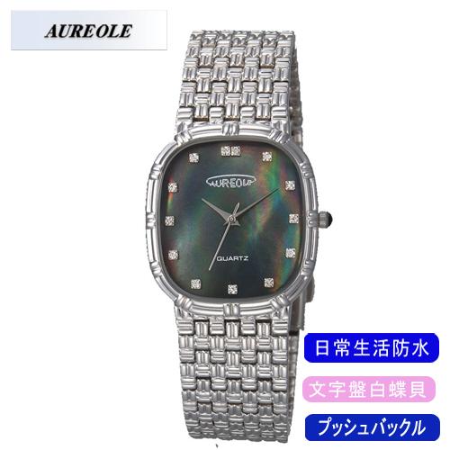 【AUREOLE】オレオール メンズ腕時計 SW-475M-1 アナログ表示 文字盤白蝶貝 日常生活用防水 /5点入り(代引き不可)