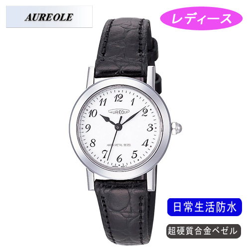 【AUREOLE】オレオール レディース腕時計 SW-436L-3 アナログ表示 超硬質合金ベゼル 日常生活用防水 /10点入り(代引き不可)
