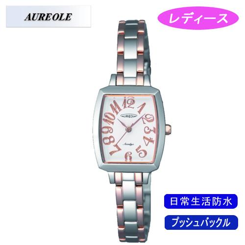 【AUREOLE】オレオール レディース腕時計 SW-497L-2 アナログ表示 日常生活用防水 /10点入り(代引き不可)