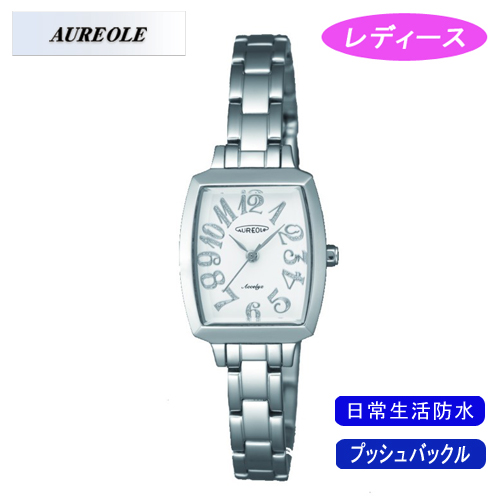 【AUREOLE】オレオール レディース腕時計 SW-497L-3 アナログ表示 日常生活用防水 /5点入り(代引き不可)