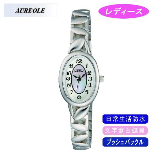 【AUREOLE】オレオール レディース腕時計 SW-460L-7 アナログ表示 文字盤白蝶貝 日常生活用防水 /10点入り(代引き不可)