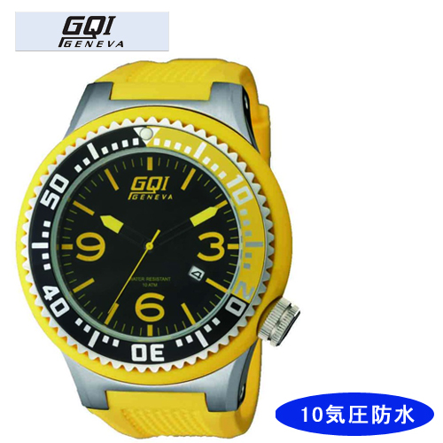 【GQI GENEVA】 ジェネバ メンズ腕時計 GQ-109 アナログ表示 10気圧防水 /5点入り(き)【送料無料】