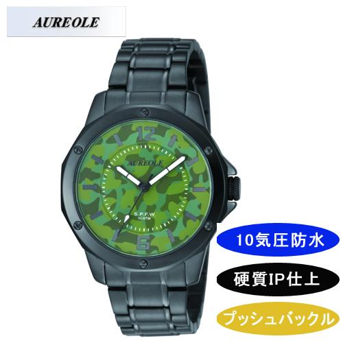 【AUREOLE】オレオール メンズ腕時計 SW-571M-56 アナログ表示 10気圧防水 /5点入り(代引き不可)