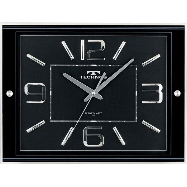 テクノス掛時計W-539BK /5点入り(代引き不可)【送料無料】