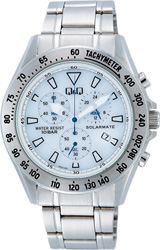 【CITIZEN】シチズン Q&Q ソーラー電源搭載 クロノグラフ メンズ腕時計H022-201 /5点入り(き)【送料無料】