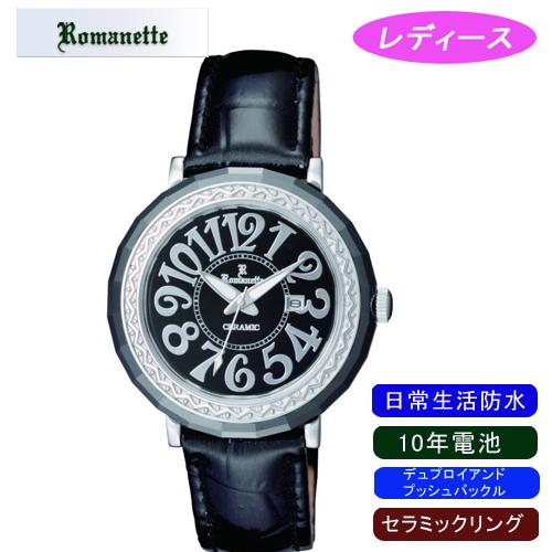 【ROMANETTE】ロマネッティ レディース腕時計RE-3522L-1 アナログ表示 10年電池 日常生活用防水 /5点入り(代引き不可)